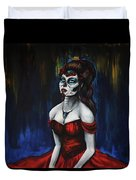 The Red Dress Duvet Cover