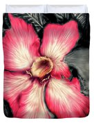 The Red Flower Duvet Cover by Darren Cannell