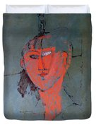 The Red Head Duvet Cover by Amedeo Modigliani