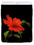 The Red Hibiscus Duvet Cover