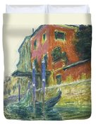 The Red House Duvet Cover by Claude Monet