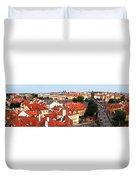 The Red Tile Roofs Of Prague Duvet Cover