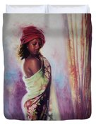 The Red Turban Duvet Cover