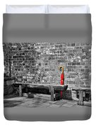 The Red Umbrella 2 Duvet Cover