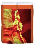 The Reddish Yellow Path Duvet Cover