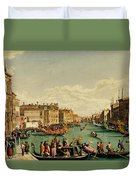 The Redentore Feast In Venice Duvet Cover
