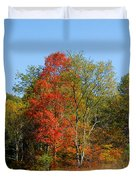 The Reds And Greens Of Autumn Duvet Cover