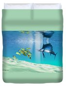 The Reef Duvet Cover by Corey Ford