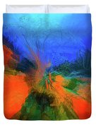 The Reef In Watercolor Abstract Duvet Cover