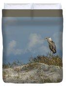 The Regal Great Blue Heron Duvet Cover