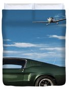The Rendezvous - 1968 Mustang Fastback Duvet Cover