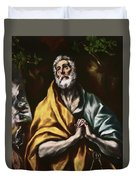 The Repentant Saint Peter Duvet Cover