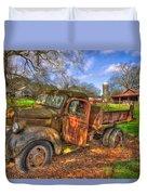 The Resting Place Boswell Farm 1947 Dodge Dump Truck Duvet Cover