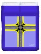 The Resurrection Cross Fractal 62 Duvet Cover