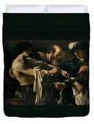 The Return Of The Prodigal Son Duvet Cover by Giovanni Francesco Barbieri