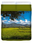 The Rice Fields Of Pai, Thailnad Duvet Cover
