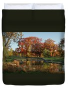 The Rich Autumn Colors In Forest Park. Duvet Cover