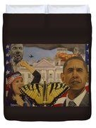The Rise Of A Falling Nation  Duvet Cover