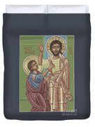 The Risen Lord Appears To St Thomas 257 Duvet Cover