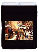 The Ritz Carlton Montreal Streetscene Duvet Cover