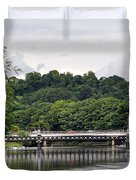 The River And Bridges At Burton On Trent Duvet Cover