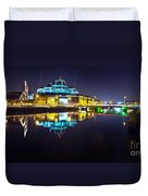 The River Liffey Night Romance 2 Duvet Cover