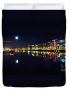 The River Liffey Night Romance Duvet Cover