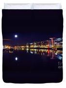 The River Liffey Night Romance V2 Duvet Cover