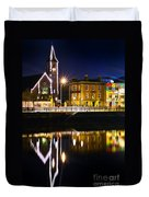 The River Liffey Reflections Duvet Cover
