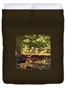 The River Lin , Bradgate Park Duvet Cover
