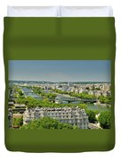 The River Of Paris Duvet Cover