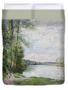 The Riverside Road From Veneux To Thomery Duvet Cover