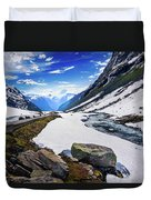 The Road And The Stream Duvet Cover