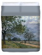 The Road From Versailles To Louveciennes Duvet Cover