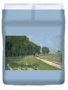 The Road Near The Park Of Courances Duvet Cover