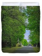The Road On A Border Of Royal Park Duvet Cover