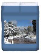 The Road Through Winter Duvet Cover