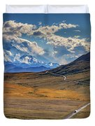 The Road To Denali Duvet Cover