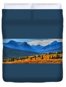 The Road To Glacier Duvet Cover