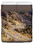 The Road To Izoard Pass - 2 - French Alps Duvet Cover