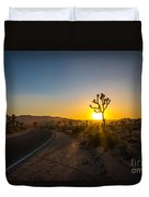 The Road To Joshua Tree At Sunset Duvet Cover