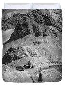 The Road To Ladakh Bw Duvet Cover