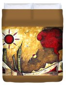 The Road To Life Original Madart Painting Duvet Cover