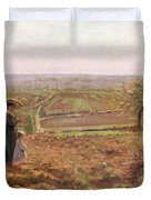 The Road To Rouen Duvet Cover