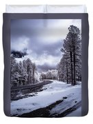 The Road To Snow Duvet Cover