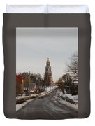 The Road To The Temple In The Early Spring. Duvet Cover