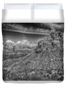 The Road To The Tunnel Bw Duvet Cover