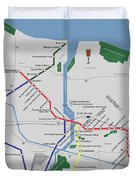 The Rochester Pubway Map Duvet Cover