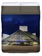 The Rock And Roll Hall Of Fame At Dusk Duvet Cover