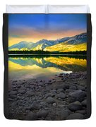 The Rockies Reflected At Lake Annettee Duvet Cover